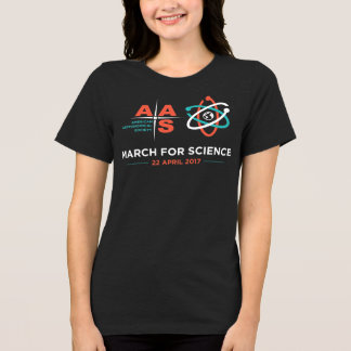 AAS + March for Science; Dark Heather Gray T-Shirt