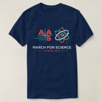 AAS   March for Science; Navy Blue T-Shirt