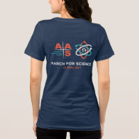 AAS + March for Science; Reverse, Navy T-Shirt