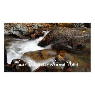 AAW Alaskan Autumn Waterfall Business Card