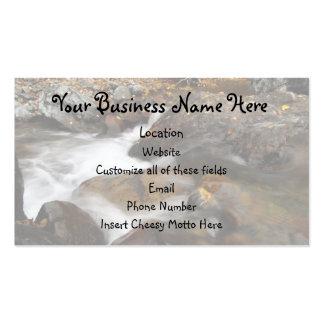 AAW Alaskan Autumn Waterfall Business Card Template