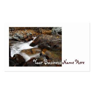AAW Alaskan Autumn Waterfall Business Card Templates