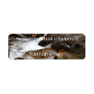AAW Alaskan Autumn Waterfall Custom Return Address Label
