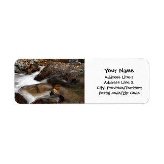 AAW Alaskan Autumn Waterfall Return Address Labels
