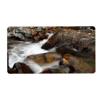 AAW Alaskan Autumn Waterfall Custom Shipping Label