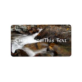 AAW Alaskan Autumn Waterfall Custom Address Labels