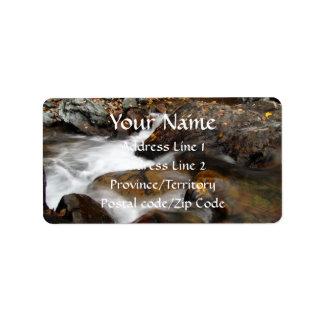 AAW Alaskan Autumn Waterfall Labels