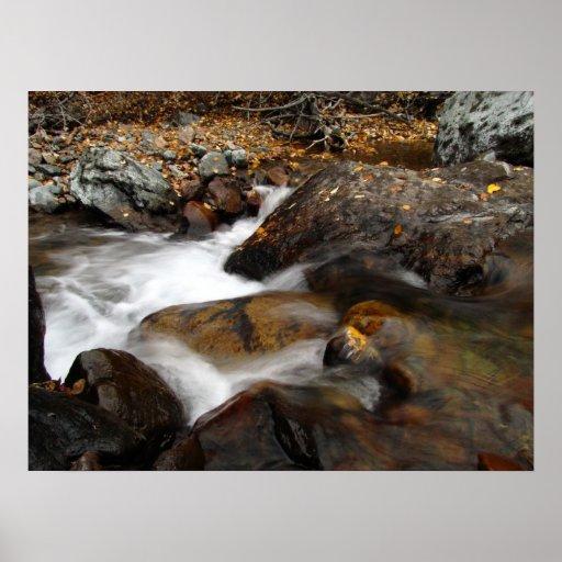 AAW Alaskan Autumn Waterfall Poster