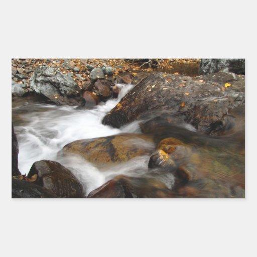 AAW Alaskan Autumn Waterfall Rectangular Sticker