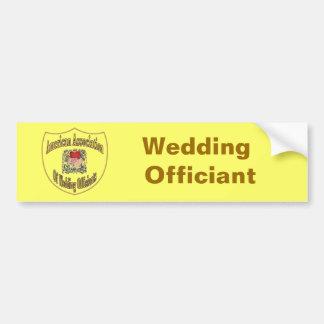 AAWO Wedding Officiant Car Bumper Sticker