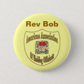 AAWO Wedding Officiant Pinback Button