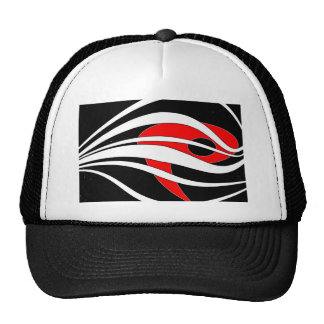 ab03 Abstract Fun Art Design Color Trucker Hat