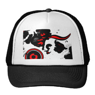 ab09 Abstract Fun Art Design Color Trucker Hat