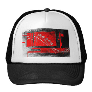ab21 Abstract Fun Art Design Color Trucker Hat