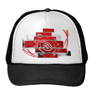 ab22 Abstract Fun Art Design Color Trucker Hat