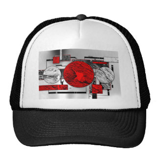 ab23 Abstract Fun Art Design Color Trucker Hat