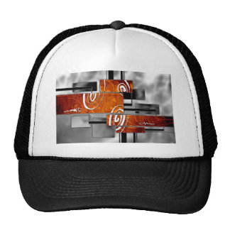 ab26 Abstract Fun Art Design Color Trucker Hat