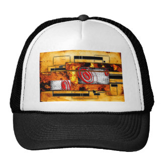 ab28 Abstract Fun Art Design Color Trucker Hat