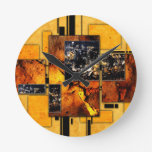 ab29 Abstract Fun Art Design Color Round Wall Clock