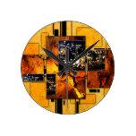 ab29 Abstract Fun Art Design Color Round Clocks