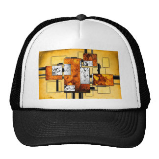 ab30 Abstract Fun Art Design Color Trucker Hat