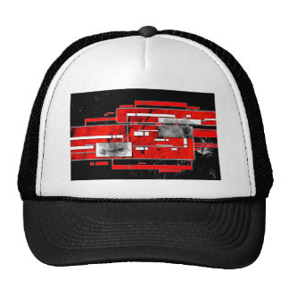 ab32 Abstract Fun Art Design Color Trucker Hat