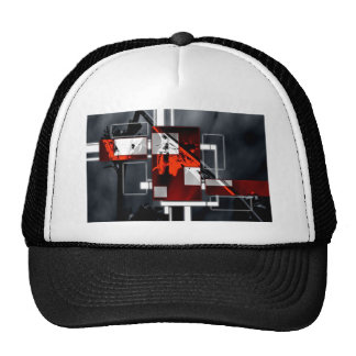 ab33 Abstract Fun Art Design Color Trucker Hat