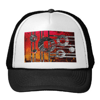 ab35 Abstract Fun Art Design Color Trucker Hat