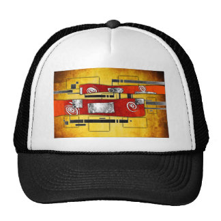ab36 Abstract Fun Art Design Color Trucker Hat