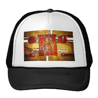 ab38 Abstract Fun Art Design Color Trucker Hat