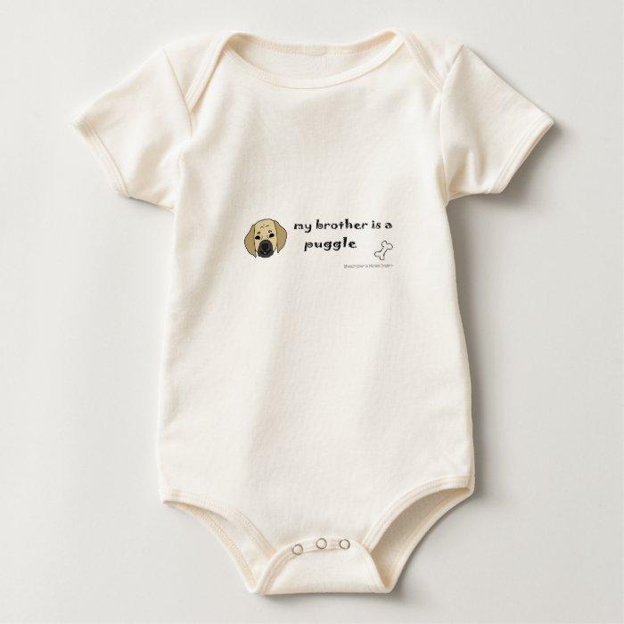 ab42 PuggleFawnBrother Baby Bodysuit