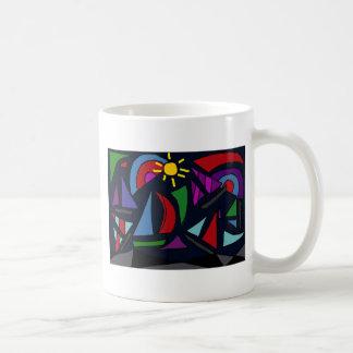 AB- Abstract Art Sailing Coffee Mug