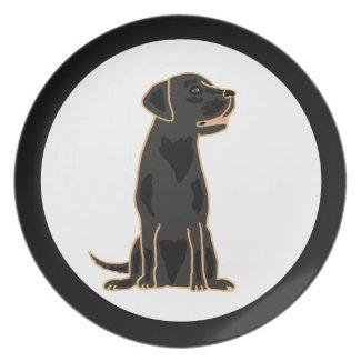 AB- Black Labrador Plate fuji_plate