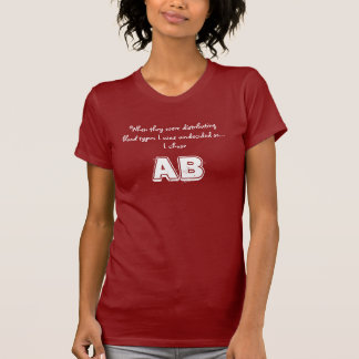 AB blood type - Gruppo sanguigno AB T-shirt