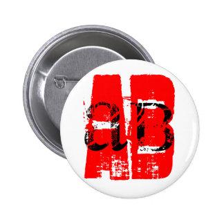 AB - = blood type Pinback Button