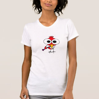 AB- Cardinal Bird Playing Clarinet Cartoon Shirt