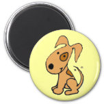 AB- Cute wagging pup design magnet