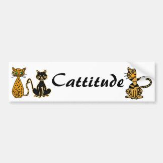 AB- Funny Cats Cattitude Bumper Sticker Car Bumper Sticker