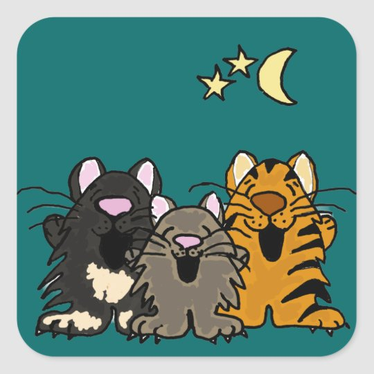 AB- Funny Singing Cats Stickers