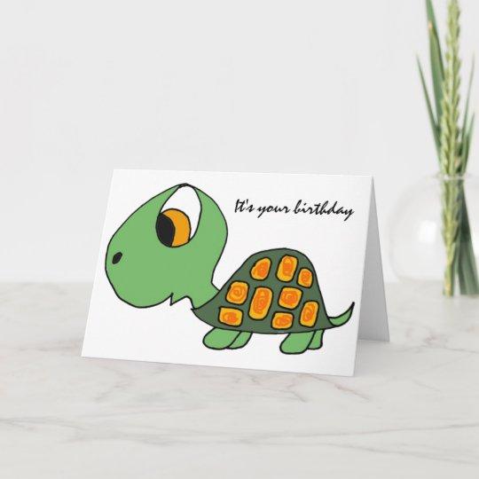 Ab Funny Turtle Birthday Card Zazzle