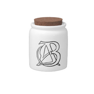 AB Monogram Candy Dishes