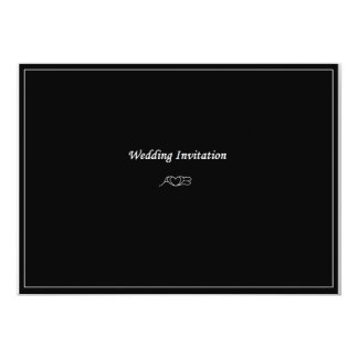 AB Monogram Wedding Invitation