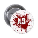 AB Negative Blood Type Donation Vampire Zombie Pinback Button