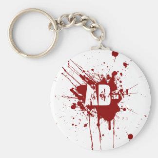 AB Negative Blood Type Donation Vampire Zombie Keychain