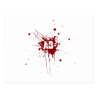 AB Negative Blood Type Donation Vampire Zombie Postcard