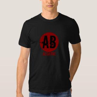 AB NEGATIVE BLOOD TYPE T SHIRT