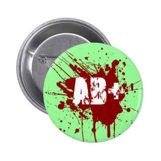 AB positive Blood Type Donation Vampire Zombie Button