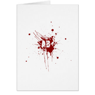AB positive Blood Type Donation Vampire Zombie Greeting Card