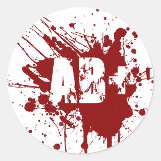 AB positive Blood Type Donation Vampire Zombie Classic Round Sticker