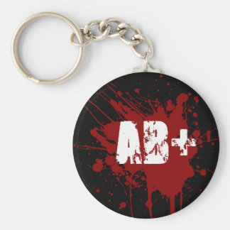 AB positive Blood Type Donation Vampire Zombie Keychain